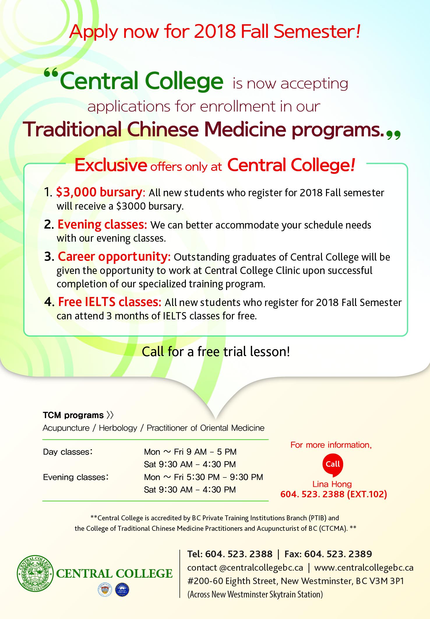 Enroll now for a $3000 bursary