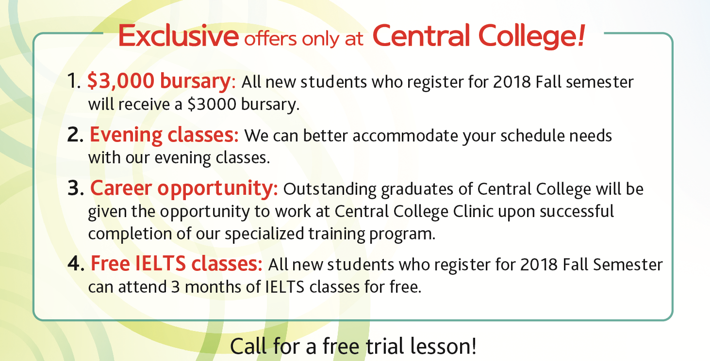 Enroll now for a $3000 bursary!
