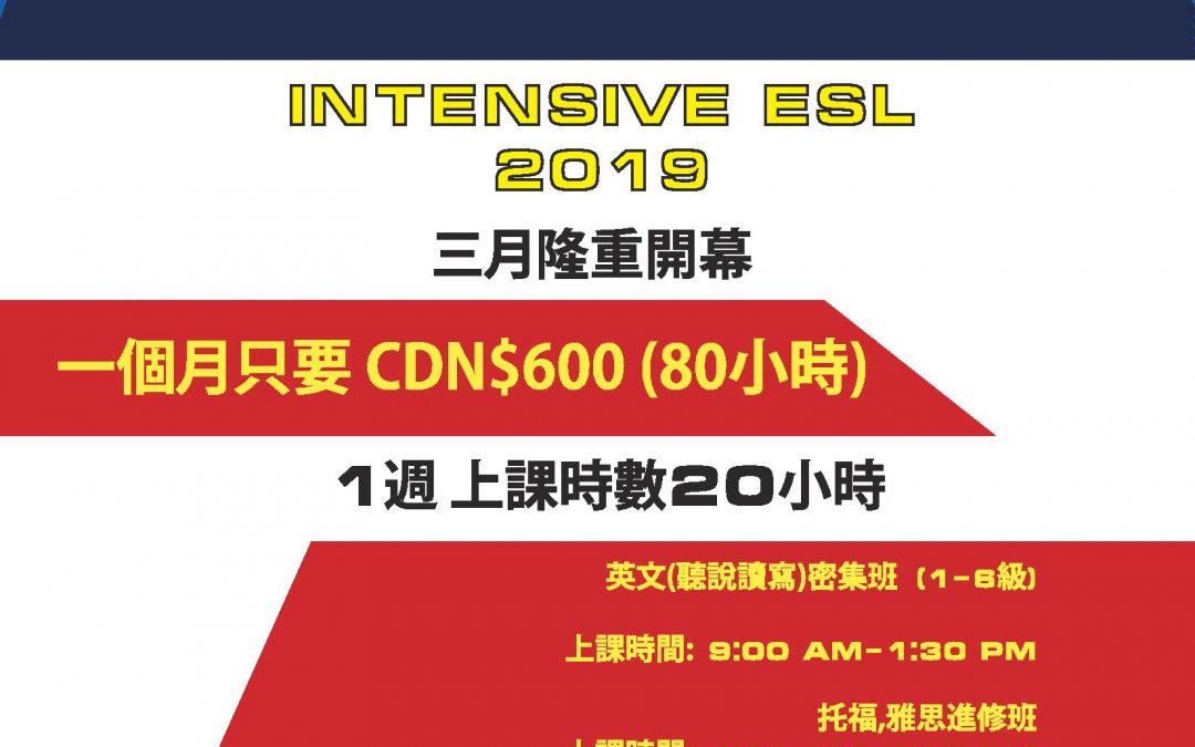 Intensive ESL at DT!